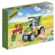 Klocki BanBao 8587 Eco Farm Farmer w pracy Traktor