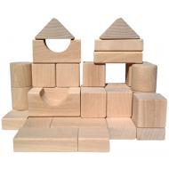 Klocki naturalne drewniane ekologiczne EKO 30el.