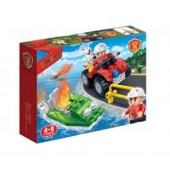 Klocki BanBao Straż Pożarna 7118 Wodna Akcja ratownicza