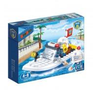 Klocki BanBao 7019 Policja Policyjna łódź patrolowa 62el.