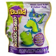 Kinetic Sand Build - piasek konstrukcyjny 2 kolory zielony-niebieski 454g