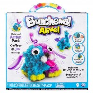 Bunchems Alive Kolorowe Rzepy - aktywny zestaw z wibrującą kulą