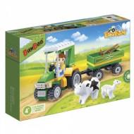 Klocki BanBao 8586 Eco Farm Traktor z przyczepą