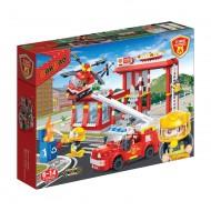 Klocki BanBao Straż Pożarna 7102 Remiza Strażacka